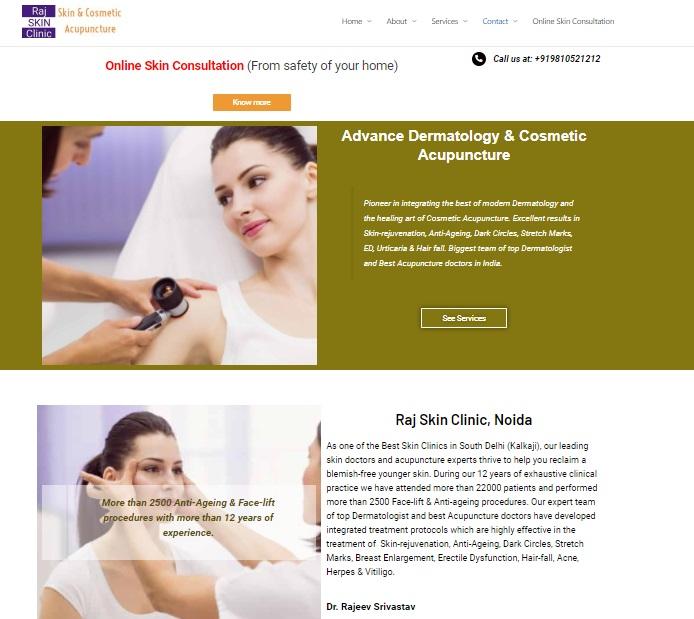 raj clinicn website